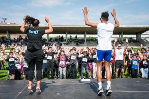 La LC'Run, au stade Géo André. Course populaire pour les enfants et adultes.